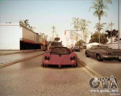 Pagani Zonda F V1.0 para vista lateral GTA San Andreas