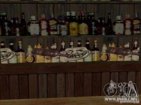 MIERDA de bar Sí para GTA San Andreas segunda pantalla