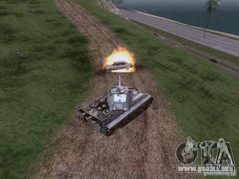PZ VII Tigre II tigre real VIB para GTA San Andreas vista hacia atrás
