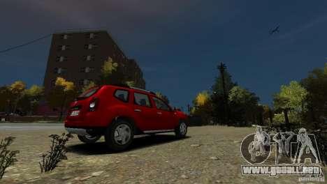 Dacia Duster SUV 4x4 2010 para GTA 4 visión correcta