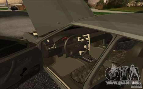 VAZ-2109 para GTA San Andreas vista posterior izquierda