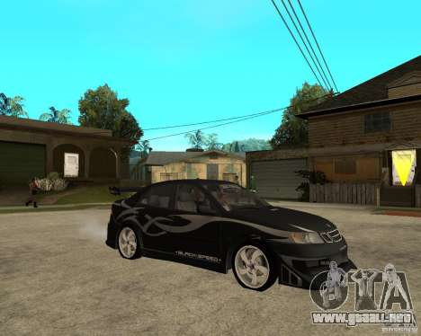 Saab 9-3 de GM Rally versión 2 para la visión correcta GTA San Andreas