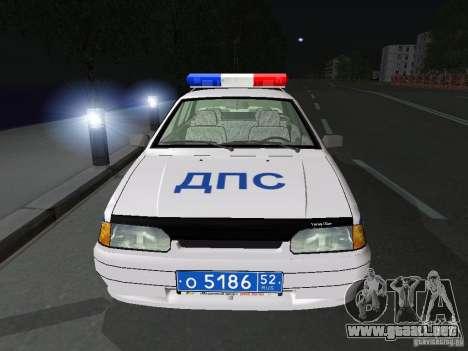 VAZ 2115 policía DPS para visión interna GTA San Andreas