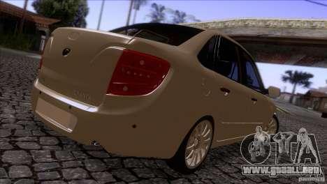 VAZ 2190 Granta para la visión correcta GTA San Andreas
