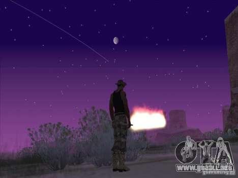 Espada de fuego para c Jay para GTA San Andreas segunda pantalla
