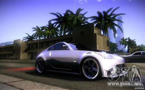 Nissan 350Z Fairlady para vista inferior GTA San Andreas