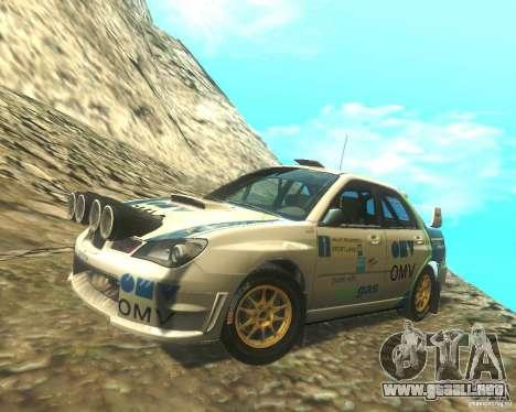 Subaru Impreza WRX STI DIRT 2 para la vista superior GTA San Andreas