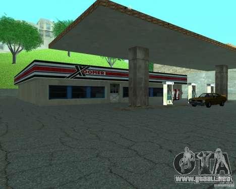 Nuevo letrero. nueva gasolinera. para GTA San Andreas segunda pantalla