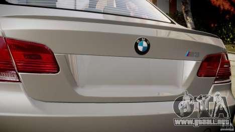 BMW M3 E92 para GTA 4 vista superior