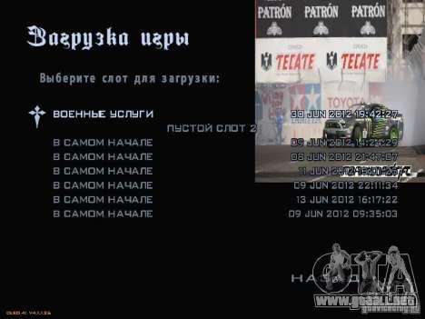 Fórmula menú estilo Drift para GTA San Andreas séptima pantalla