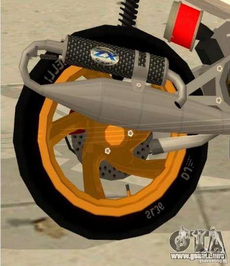Gilera Runner 50SP Skin 3 para la visión correcta GTA San Andreas