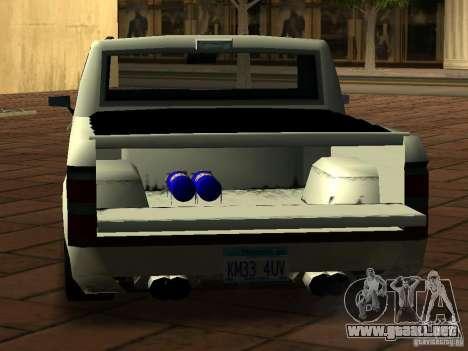 New Tuned Bobcat para GTA San Andreas vista hacia atrás