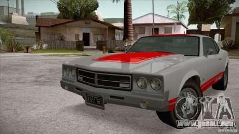 Sabre GT From GTA IV para GTA San Andreas left