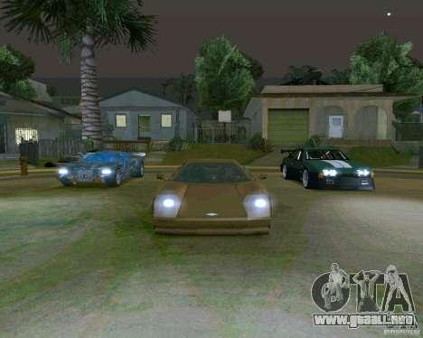 Infernus from Vice City para GTA San Andreas vista hacia atrás