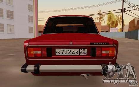 Drenaje 2106 VAZ para la visión correcta GTA San Andreas