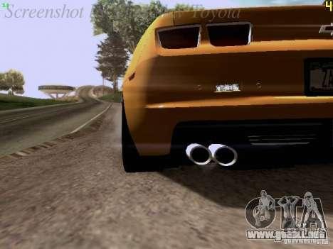 Chevrolet Camaro ZL1 2012 para visión interna GTA San Andreas