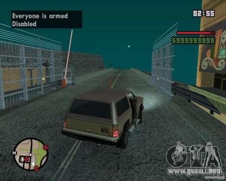 CJ-alcalde para GTA San Andreas octavo de pantalla