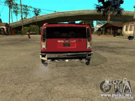 Hummer H2 Diablo para la visión correcta GTA San Andreas