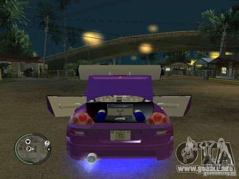 Mitsubishi Spyder 2Fast2Furious Cabriolet para visión interna GTA San Andreas