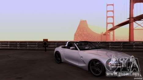 BMW Z4 V10 para visión interna GTA San Andreas