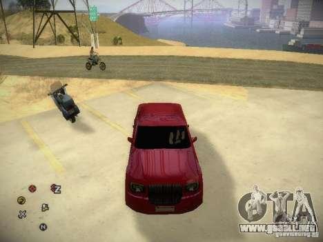 Chrysler 300C para GTA San Andreas vista hacia atrás