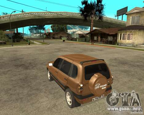 CHEVROLET NIVA Version 2.0 para GTA San Andreas left