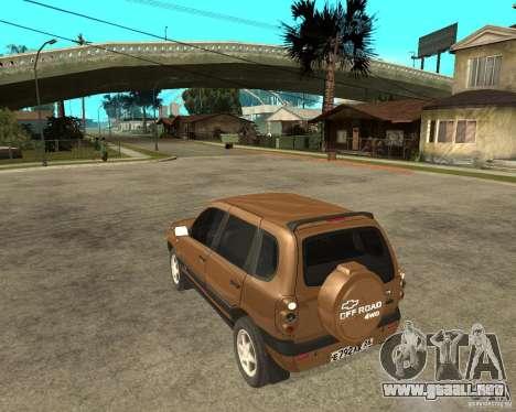 CHEVROLET NIVA Version 2.0 para GTA San Andreas left