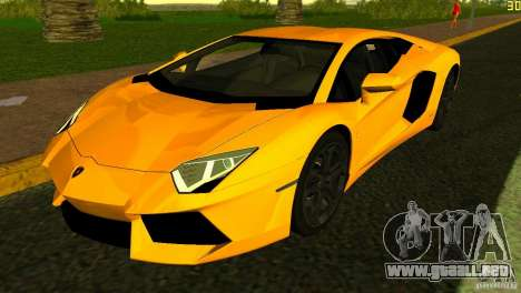 Lamborghini Aventador LP 700-4 para GTA Vice City vista interior