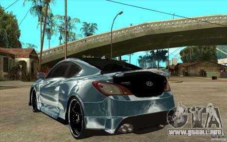 Hyundai Genesis Tuning para GTA San Andreas vista posterior izquierda