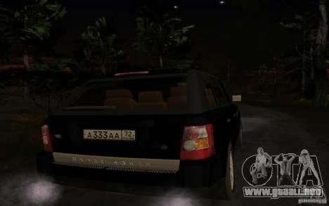 Land Rover Range Rover para la visión correcta GTA San Andreas