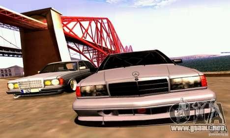 Mercedes-Benz 190E Drift para visión interna GTA San Andreas