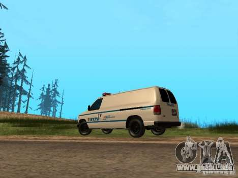 Ford E-150 NYPD Police para GTA San Andreas vista posterior izquierda