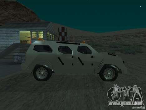 FBI Truck from Fast Five para GTA San Andreas left