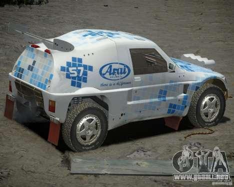 Mitsubishi Pajero Proto Dakar EK86 vinilo 3 para GTA 4 visión correcta