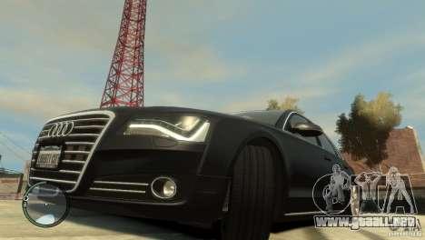 Audi A8 V8 FSI para GTA 4 vista lateral