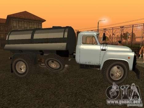 GAZ 53 Flusher para GTA San Andreas left