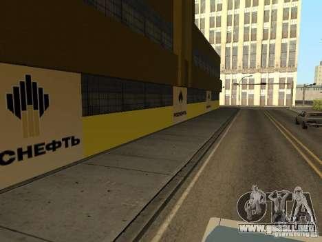Nuevas texturas gasolineras para GTA San Andreas sucesivamente de pantalla