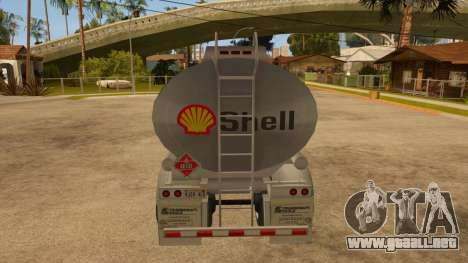 Tanque semi-remolque para la visión correcta GTA San Andreas