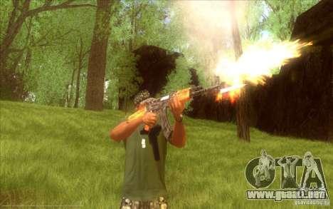 Kalashnikov HD para GTA San Andreas tercera pantalla