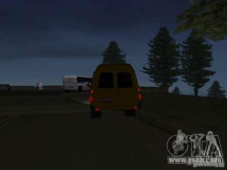 Taxi gacela para GTA San Andreas vista posterior izquierda