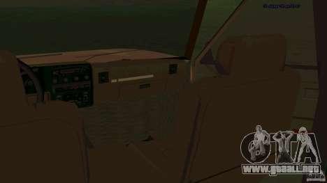 HD Huntley para GTA San Andreas vista hacia atrás