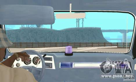 Chevrolet Suburban FBI 1986 para visión interna GTA San Andreas
