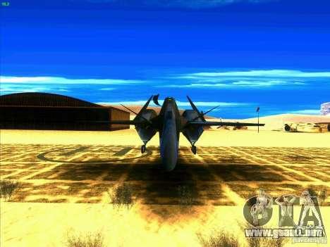 ADF-01 Falken para GTA San Andreas vista hacia atrás