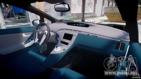 Toyota Prius 2011 PHEV Concept para GTA 4 vista superior