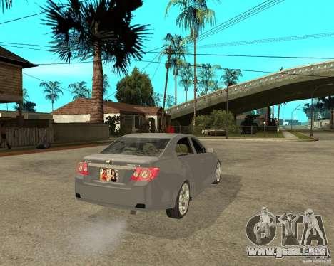 Cheverolet Epica para GTA San Andreas vista posterior izquierda