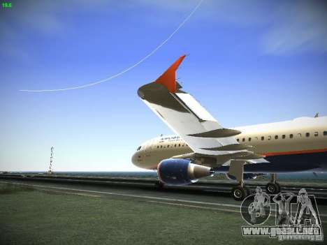 Aeroflot Russian Airlines Airbus A320 para GTA San Andreas left