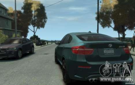 BMW X6-M 2010 para GTA 4 Vista posterior izquierda