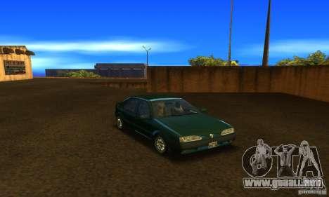 Renault 19 PHASE II para GTA San Andreas vista hacia atrás