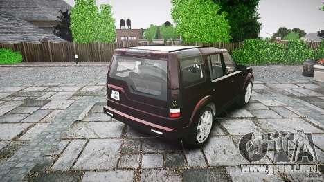 Land Rover Discovery 4 2011 para GTA 4 vista lateral