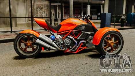 Ducati Diavel Reversetrike para GTA 4 left